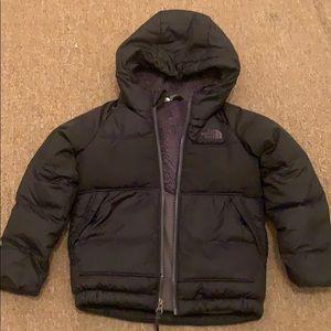Used black northface down coat